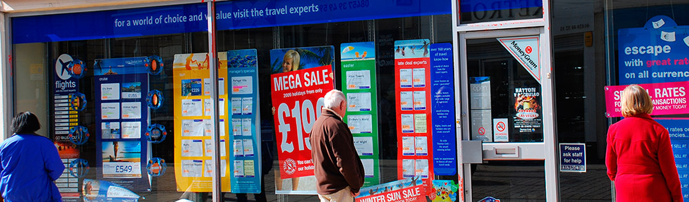 Photo of a travel agents