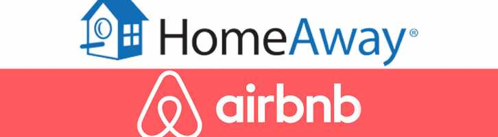 HomeAway and Airbnb logo