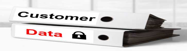 Customer data security on folders