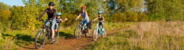 Active families like this one cycling may be part of your guest profile