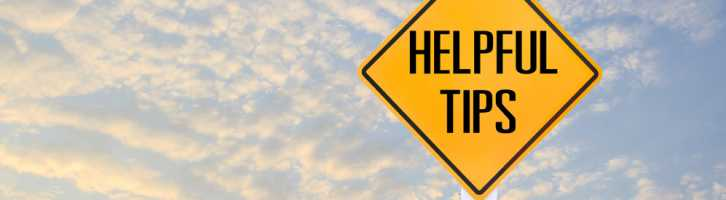 Helpful tips sign to show top tips for prospective vacation rental owners