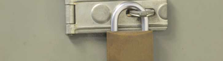 A lock such as this should be used for secure vacation rental storage